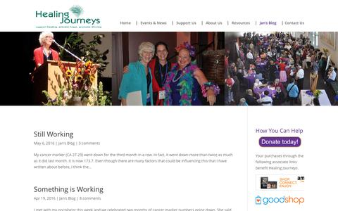 Screenshot of Blog healingjourneys.org - Jan's Blog | Healing Journeys - captured July 12, 2016