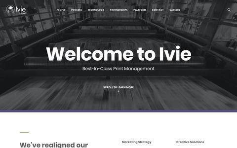 Screenshot of Home Page ivieinc.com - Ivie | Your Print Management Partner - Ivie & Associates - captured Feb. 15, 2019