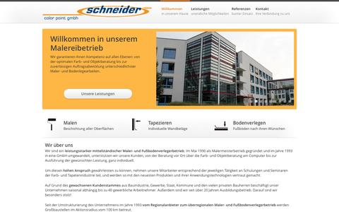 Screenshot of Home Page schneider-color-point.de - Schneider color point GmbH - captured June 8, 2016