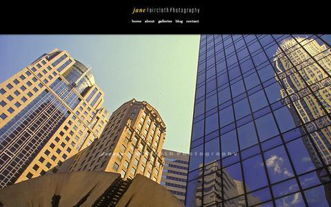Screenshot of Home Page janefaircloth.com - Jane Faircloth Photography - captured June 17, 2015