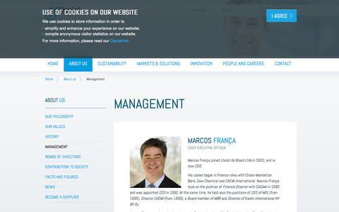 Screenshot of Team Page lhoist.com - Management | Lhoist - Minerals and lime producer - captured July 19, 2018