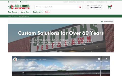 Screenshot of About Page solutionsstores.com - About Solutions Pest & Lawn | Solutions Pest & Lawn - captured June 29, 2019