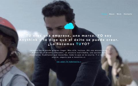 Screenshot of Home Page anythink.es - Anythink, creative producers - captured Nov. 21, 2016