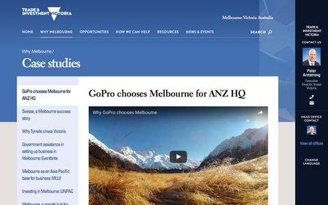 Screenshot of Case Studies Page invest.vic.gov.au - GoPro chooses Melbourne for ANZ HQ - Invest Victoria - captured Nov. 26, 2016