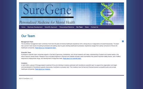 Screenshot of Team Page suregene.net - Our Team | SureGene - captured Sept. 17, 2014
