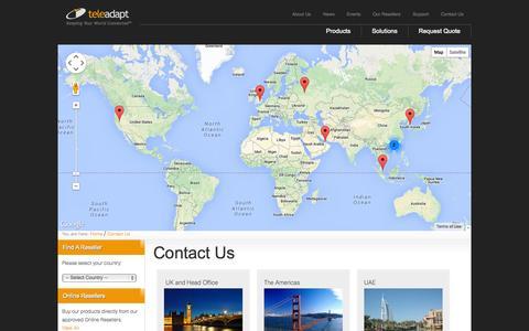 Screenshot of Contact Page teleadapt.com - Contact Us - captured Oct. 7, 2014