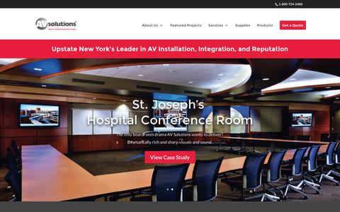 Screenshot of Home Page avsolutionsny.com - AV Solutions NY | Division of Toshiba America Business Solutions - captured Feb. 5, 2016