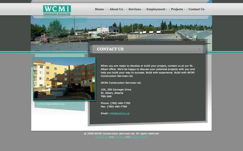 Screenshot of Contact Page wcminc.ca - Contact Us - captured Oct. 26, 2014