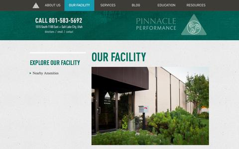 Screenshot of Contact Page Maps & Directions Page pinnacle4performance.com - Pinnacle Performance – Our Facility - captured Nov. 7, 2016