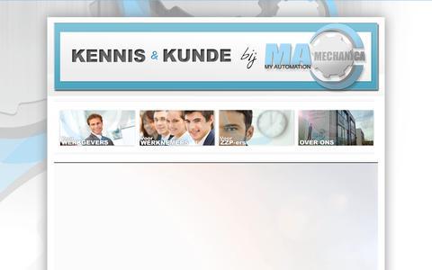 Screenshot of Home Page ma-mechanica.nl - MA-Mechanica - captured Dec. 16, 2015
