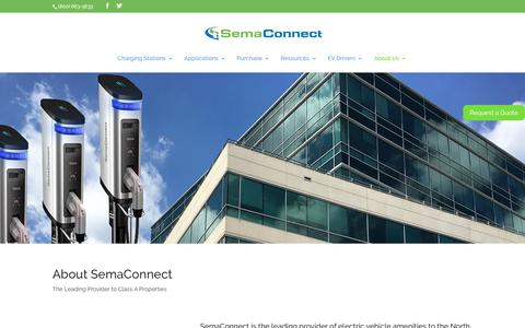 Screenshot of About Page semaconnect.com - Company - Smart Electric Vehicle (EV) Charging Stations - captured Nov. 8, 2019