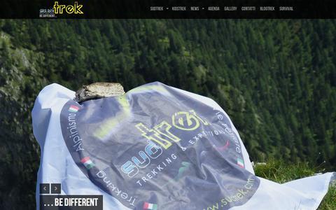 Screenshot of Home Page sudtrek.com - SudTrek Trekking & Expedition » Be Different... - captured Oct. 4, 2014