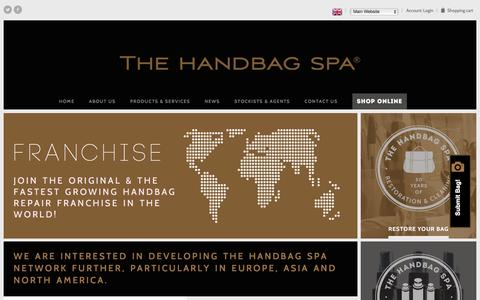 Screenshot of Maps & Directions Page thehandbagspa.com - Franchising Opportunities | The Handbag Spa - captured Feb. 15, 2016