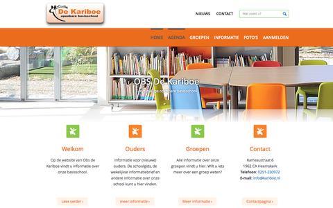 Screenshot of Home Page kariboe.nl - Home - Obs de Kariboe - captured June 9, 2017