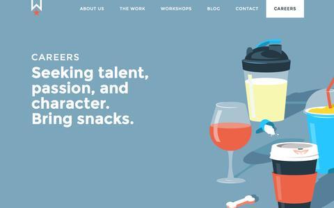 Screenshot of Jobs Page works-progress.com - Marketing Business Development Job Careers   WPD - captured Dec. 18, 2016