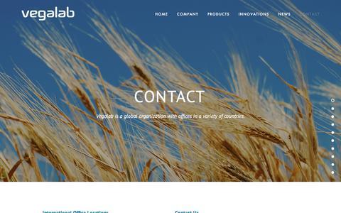 Screenshot of Contact Page vegalab.com - Contact — Vegalab - captured Sept. 20, 2018
