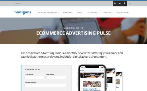 Subscribe to the Ecommerce Advertising Pulse Newsletter | Nanigans – Advertising for Incremental Revenue