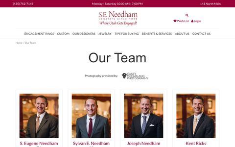 Screenshot of Team Page seneedham.com - S.E. Needham:  Our Team - captured Sept. 26, 2017