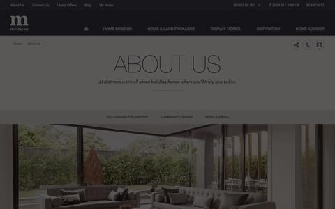 Screenshot of About Page metricon.com.au - About Us | Metricon - captured Oct. 27, 2014