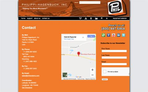 Screenshot of Locations Page philsystems.com - Our Locations - Philippi-Hagenbuch - Custom equipment for off-highway haul trucks - captured Sept. 28, 2018