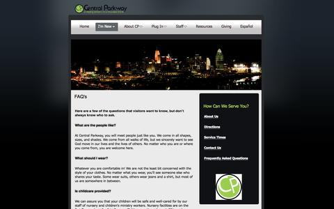 Screenshot of FAQ Page cpcog.com - FAQ's | Central Parkway - captured Oct. 2, 2014