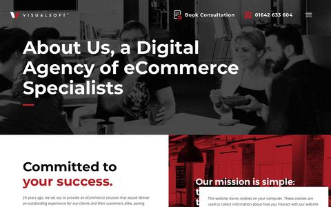 Screenshot of About Page visualsoft.co.uk - About Us | Digital Agency eCommerce Specialists | Visualsoft - captured April 21, 2019