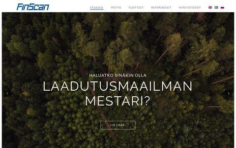 Screenshot of Home Page finscan.fi - Finscan - FinScan - captured Aug. 11, 2018