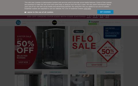 Screenshot of Home Page bathrooms.com - The UK's favourite online bathroom retailer   Bathrooms.com - captured April 18, 2019