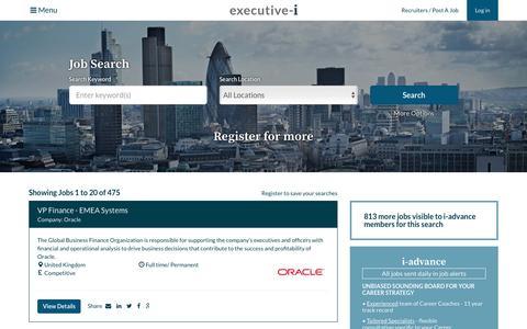 Screenshot of Jobs Page executive-i.com - Jobs on Executive-i | Executive-i - captured Nov. 16, 2016