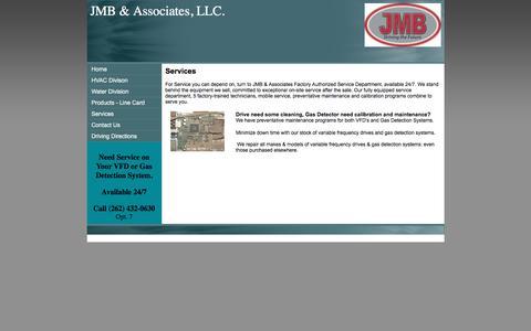 Screenshot of Services Page jmb-assoc.com - JMB & Associates, LLC. Services - captured Feb. 4, 2016