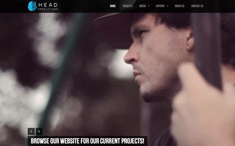 Screenshot of Home Page headproductions.net - Head Productions | - captured Sept. 29, 2014