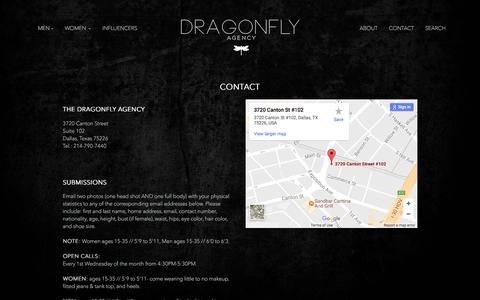 Screenshot of Contact Page thedragonflyagency.com - Contact | The Dragonfly Agency - captured June 16, 2017
