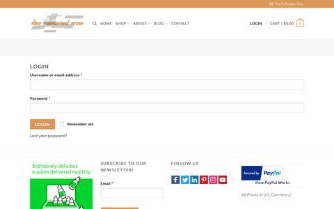 Screenshot of Login Page thetamarindtree.co - My Account | The Tamarind Tree - captured Nov. 17, 2017