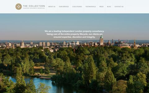 Screenshot of Home Page thecollectionllp.com - The Collection LLP   Property Acquisition The Collection LLP - captured Oct. 20, 2018