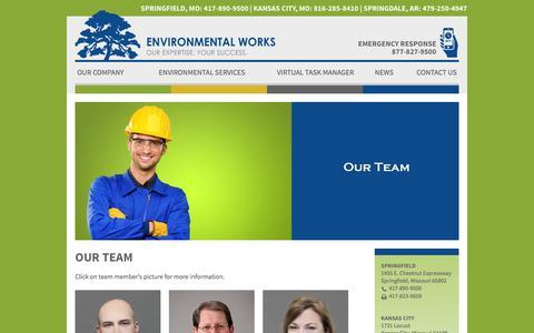 Screenshot of Team Page environmentalworks.com - Our Team | Environmental Works - captured Nov. 9, 2016
