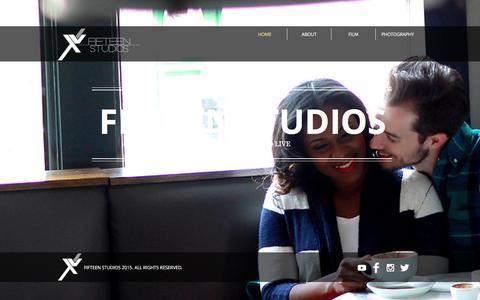 Screenshot of Home Page fifteenstudios.com - Fifteen Studios - captured Jan. 8, 2016