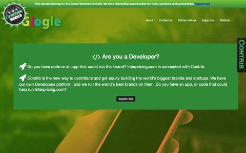 Screenshot of Developers Page giogle.com - Giogle.com - captured Dec. 9, 2015