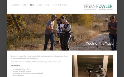 Screenshot of Jobs Page squarespace.com - Tools of the Trade — Bryan Fowler - captured Sept. 11, 2014
