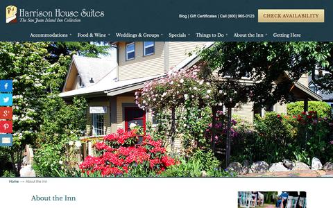 Screenshot of About Page harrisonhousesuites.com - Friday Harbor Bed and Breakfast - captured Oct. 27, 2016