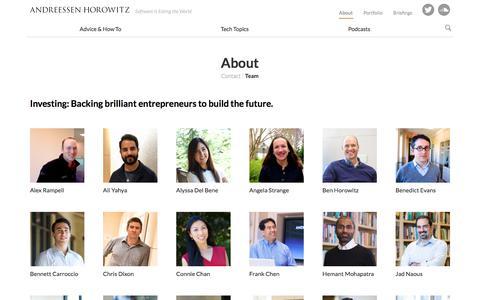Team – Andreessen Horowitz