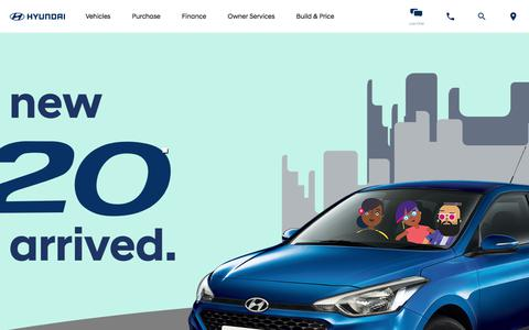 Screenshot of Home Page hyundai.co.za - Hyundai South Africa | Cars, Sedans, SUVs, and Compacts - captured July 6, 2018