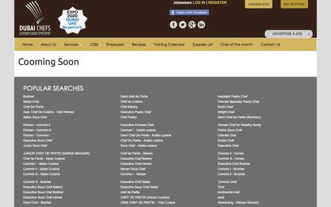 Screenshot of Services Page dubaichefs.com - Dubai Chefs - captured Sept. 30, 2014