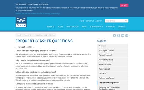 Screenshot of FAQ Page crossrail.co.uk - Frequently asked questions - Crossrail - captured Sept. 22, 2014