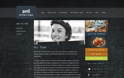 Screenshot of Team Page petersyard.com - Our Team - Peters Yard : Peters Yard - captured Sept. 29, 2014