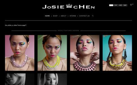 Screenshot of Home Page josiechenrange.com - Home - Josie Chen Range - captured Jan. 9, 2016