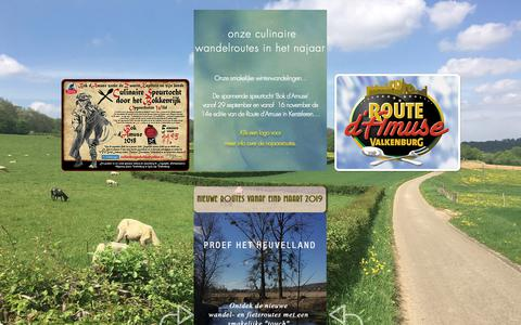 Screenshot of Home Page route-damuse.nl - Route d'Amuse, de gezellige culinaire wandeling - captured Oct. 24, 2018