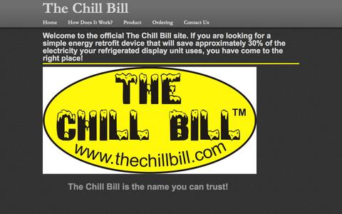 Screenshot of Home Page thechillbill.com - Home - captured Oct. 7, 2014