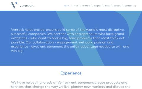 Screenshot of About Page venrock.com - About Venrock : Venrock - captured Sept. 25, 2014