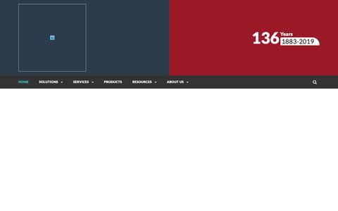 Screenshot of Home Page sturtevantinc.com - Sturtevant Inc. – Perfecting Particle Size - captured March 23, 2019