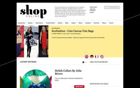 Screenshot of Home Page go-shop-online.com - Shop Online - captured Sept. 22, 2014